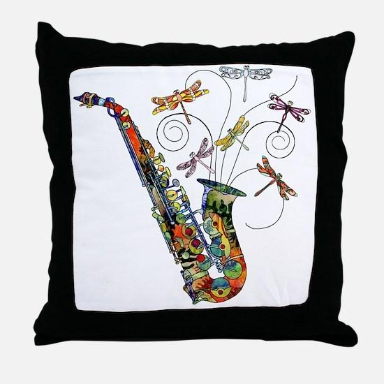 Wild Saxophone Throw Pillow