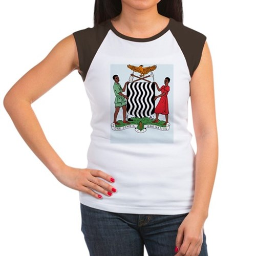 Zambia Coat Of Arms Women's Cap Sleeve T-Shirt