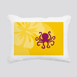 Octopus USA Sticker Rectangular Canvas Pillow