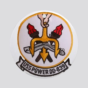 uss power patch transparent Round Ornament