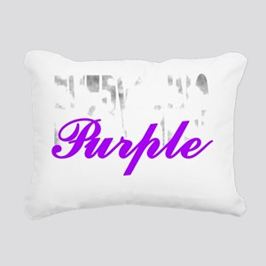 Everything Purple Rectangular Canvas Pillow