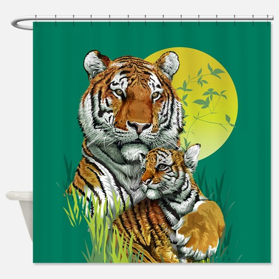 Tiger and Cub Shower Curtain