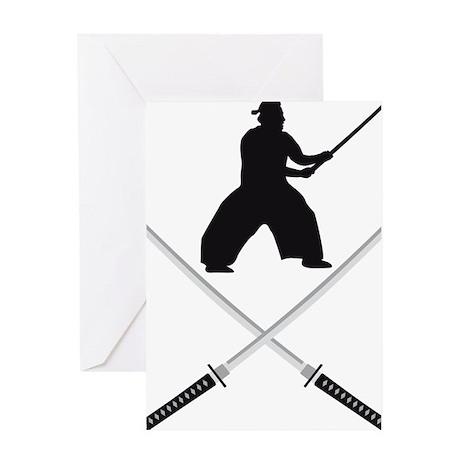 samurai sword Greeting Card