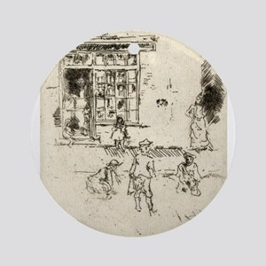 Marbles - Whistler - 1887 Round Ornament