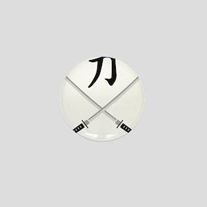 samurai sword Mini Button