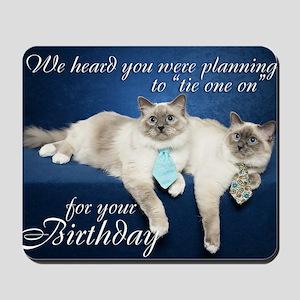 Birman Birthday Card Mousepad