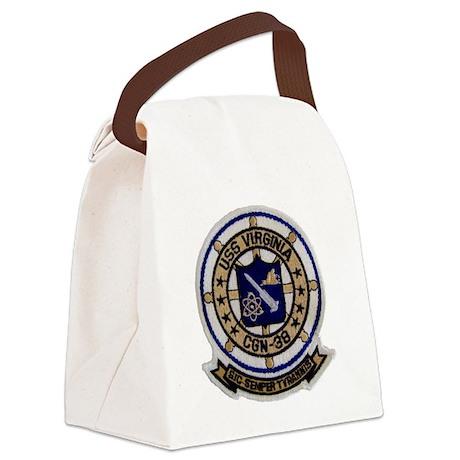 uss virginia patch transparent Canvas Lunch Bag