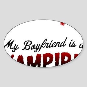 My Boyfriend is a Vampire! Sticker (Oval)