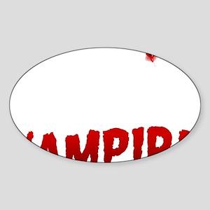 My Boyfriend is a Vampire Sticker (Oval)
