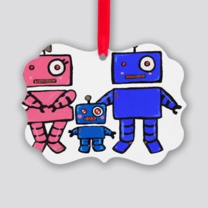 Robot Family Picture Ornament