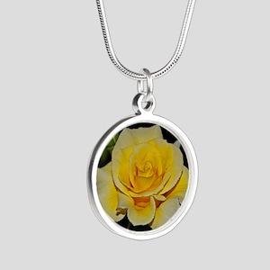 LemonCustard Rose Poster: Ro Silver Round Necklace