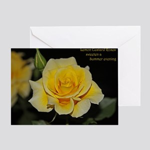 LemonCustard Rose Poster: RoseProse  Greeting Card