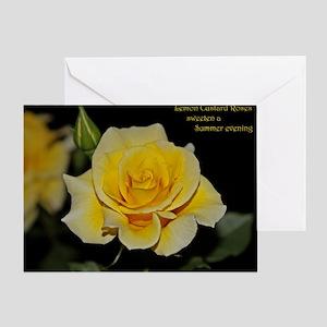 e251c1b8b98db3 LemonCustard Rose Poster  RoseProse Greeting Card
