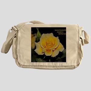 a647f7299507 LemonCustard Rose Poster  RoseProse Messenger Bag