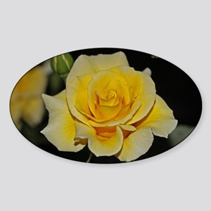 LemonCustard Rose Poster: RoseProse Sticker (Oval)