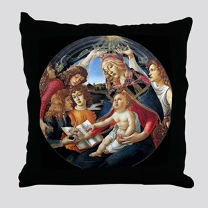 Magnifat Madonna - Botticelli Throw Pillow