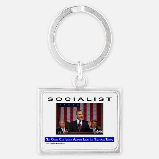 SOCIALIST - The Obama Path - Landscape Keychain