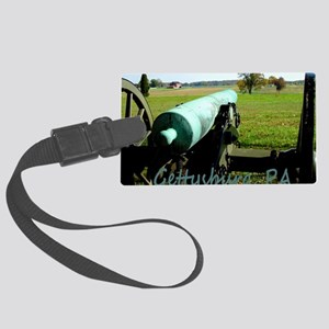 Canon on Battlefield, Gettysburg Large Luggage Tag
