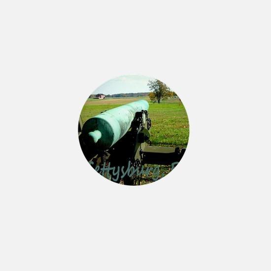 Canon on Battlefield, Gettysburg, PA M Mini Button
