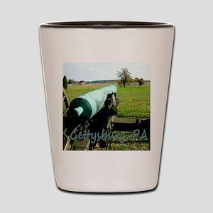 Canon on Battlefield, Gettysburg, PA Mo Shot Glass