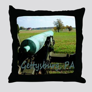 Canon on Battlefield, Gettysburg, PA  Throw Pillow