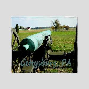 Canon on Battlefield, Gettysburg, PA Throw Blanket
