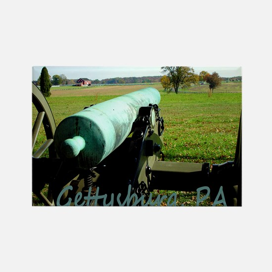Canon on Battlefield, Gettysburg, Rectangle Magnet