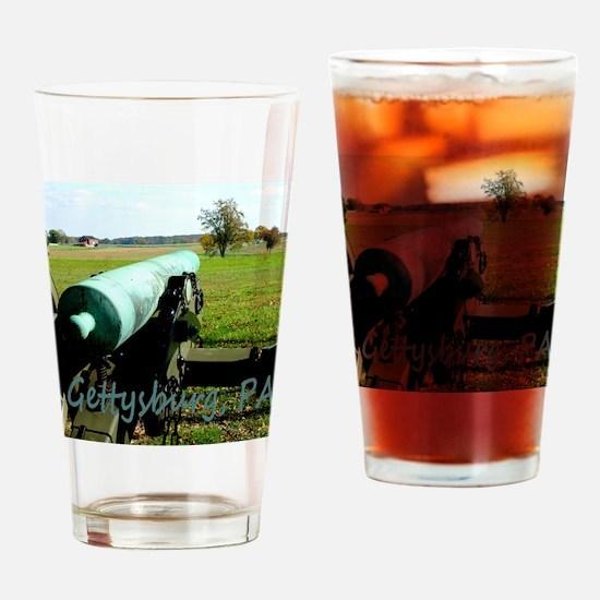 Canon on Battlefield, Gettysburg, P Drinking Glass