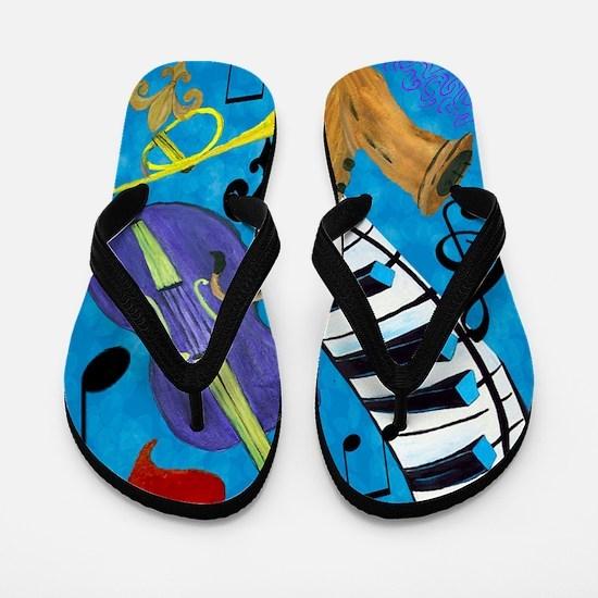 Jazz Music art Flip Flops