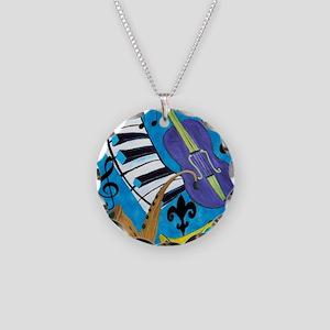 Jazz Music art Necklace Circle Charm