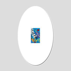 Jazz Music art 20x12 Oval Wall Decal