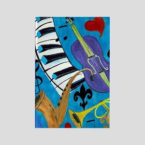 Jazz Music art Rectangle Magnet