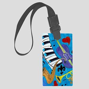 Jazz Music art Large Luggage Tag