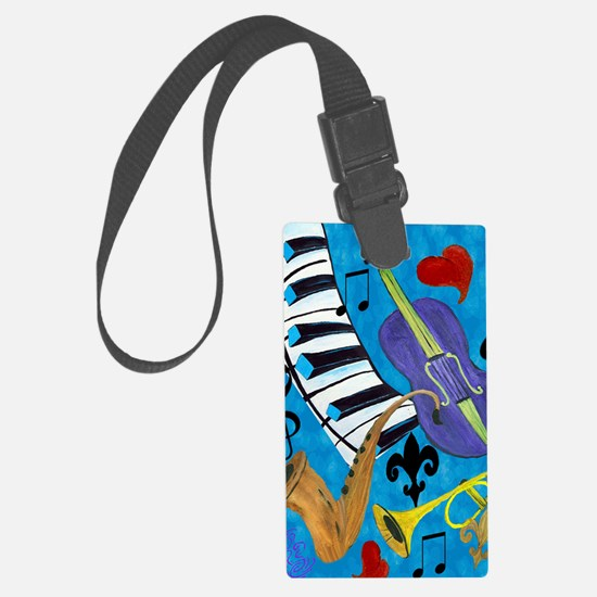 Jazz Music art Luggage Tag