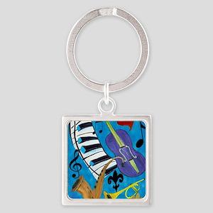 Jazz Music art Square Keychain