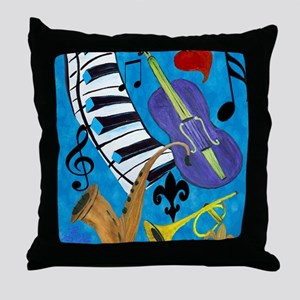 Jazz Music art Throw Pillow