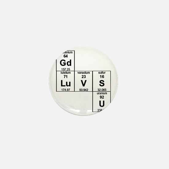 Periodic Table God Loves You Mini Button