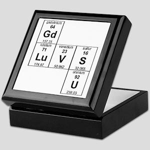 Periodic Table God Loves You Keepsake Box