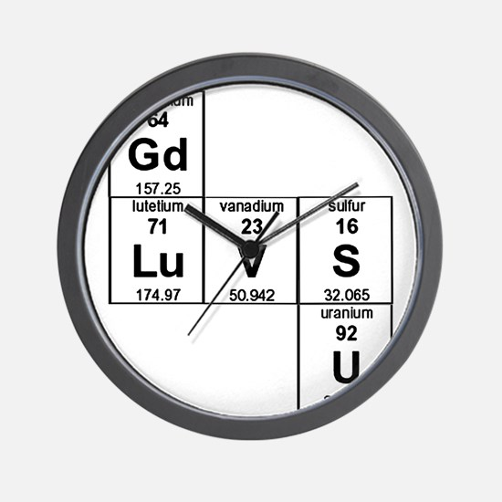 Periodic Table God Loves You Wall Clock