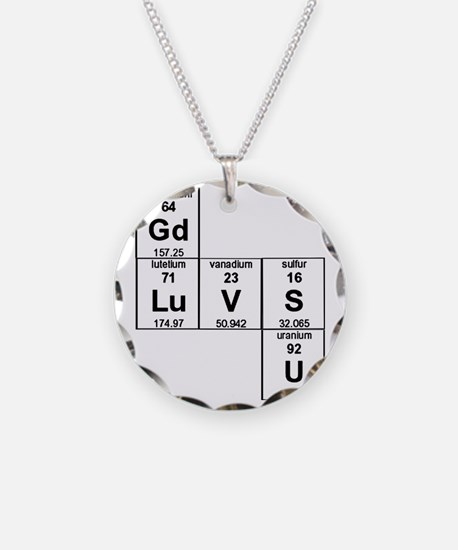 Periodic Table God Loves You Necklace