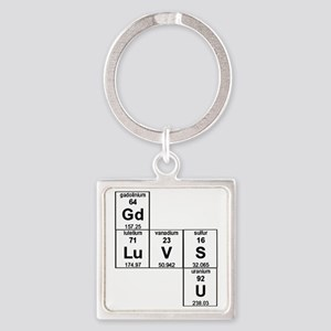 Periodic Table God Loves You Square Keychain