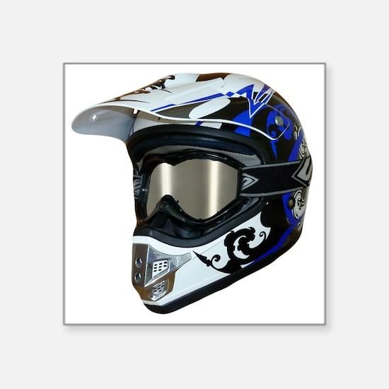 "Premises187's MX Helmet Cus Square Sticker 3"" x 3"""