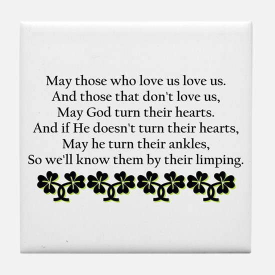 Irish Blessing? Tile Coaster