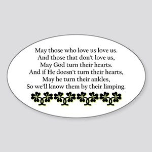 Irish Blessing? Oval Sticker