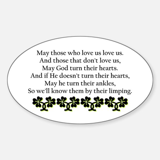 Irish Blessing? Oval Decal