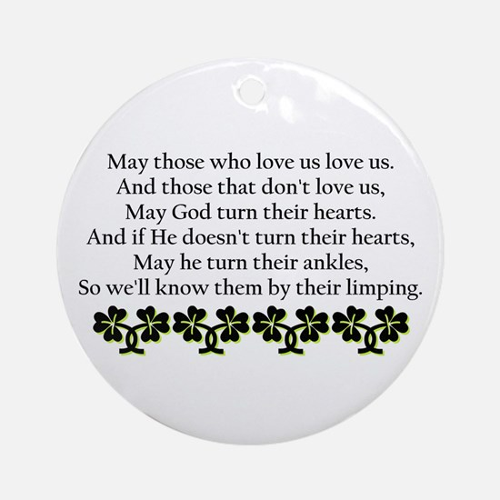 Irish Blessing? Ornament (Round)