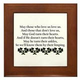 St patricks day humor Framed Tiles