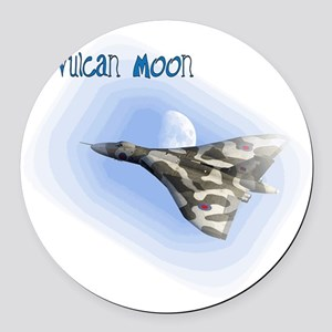 Vulcan Moon Round Car Magnet