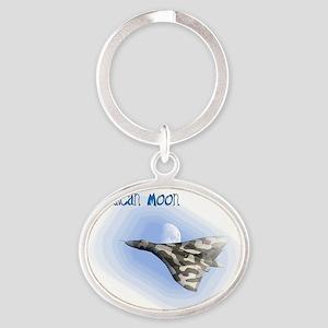 Vulcan Moon Oval Keychain