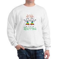 Lesbian Just Married Sweatshirt
